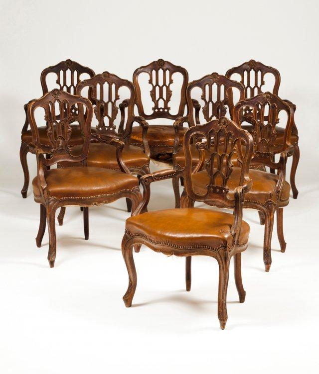 A pair of D.José style fauteuils