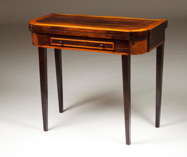 A D.Maria (1777-1816) rosewood card table