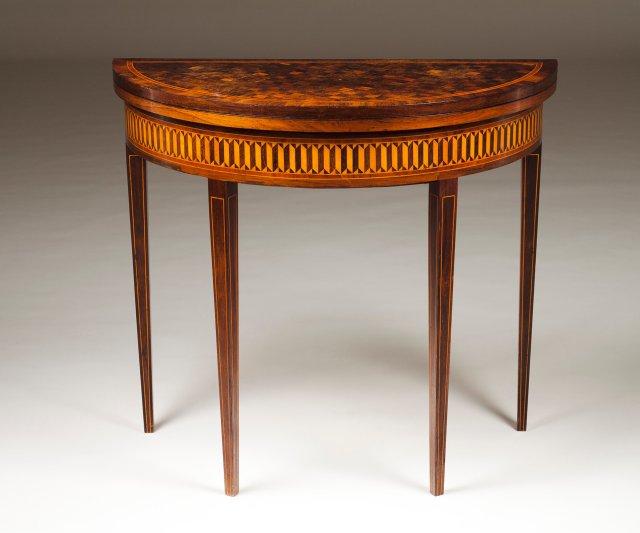 A D.Maria (1777-1816) demi-lune card table