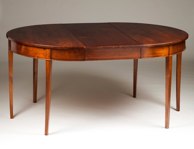 An English style dining table