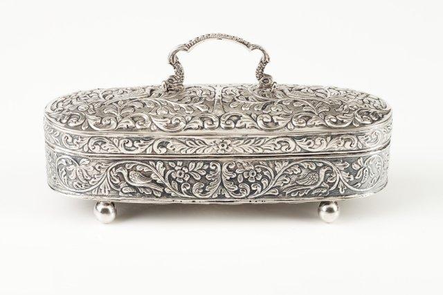 A silver box
