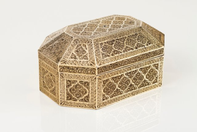 A late 17th, early 18th century Indian silver box