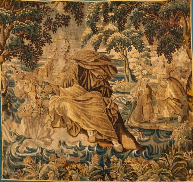 A late 17th, early 18th century Aubusson tapestry