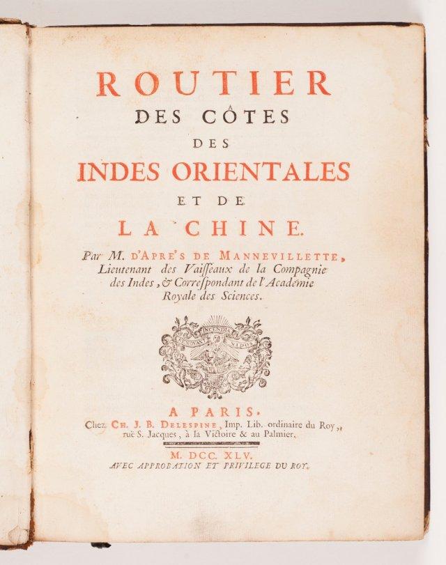 APRÈS DE MANNEVILLETTE, Jean-Baptiste-Nicolas-Denis d', 1707-1780