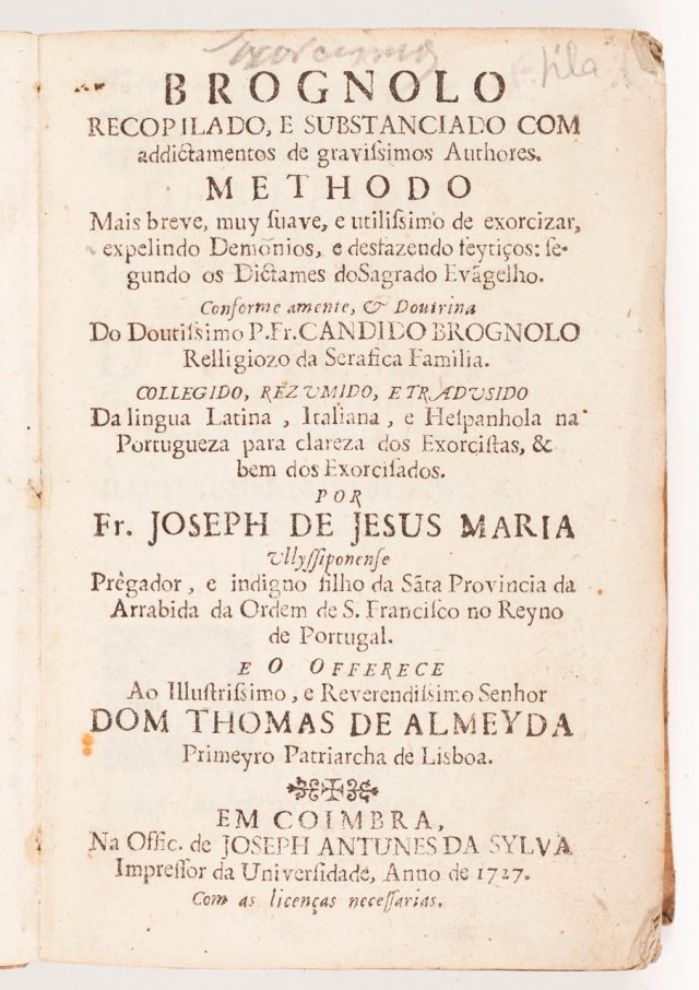 BRUGNOLI, Candido, 1607-1677, O.F.M. ; JESUS MARIA, José de, fl.1737, O.F.M., (trad.)