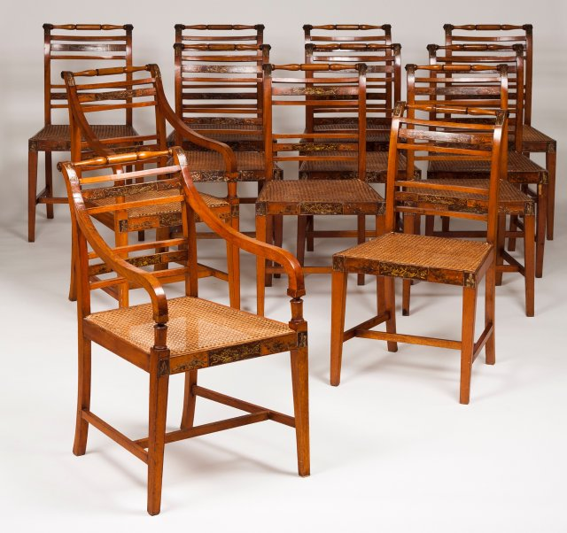 A set of 12 chairs in the D. Maria style
