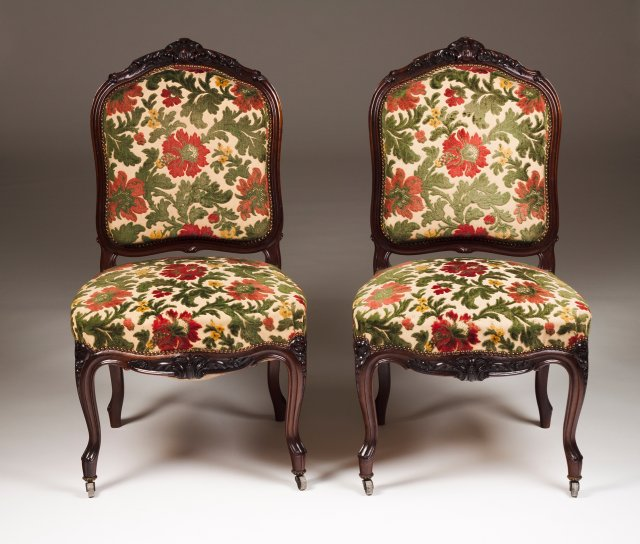 A pair of Louis XV style chairs