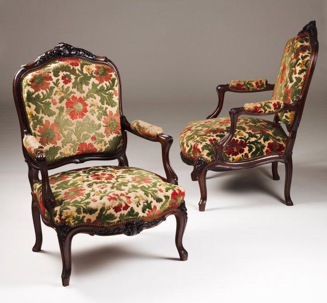 Par de fauteuils estilo Luís XV