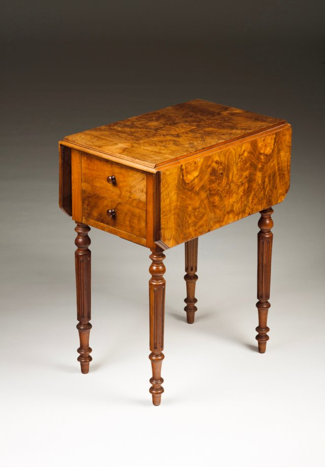 A small  George III twin flat top table