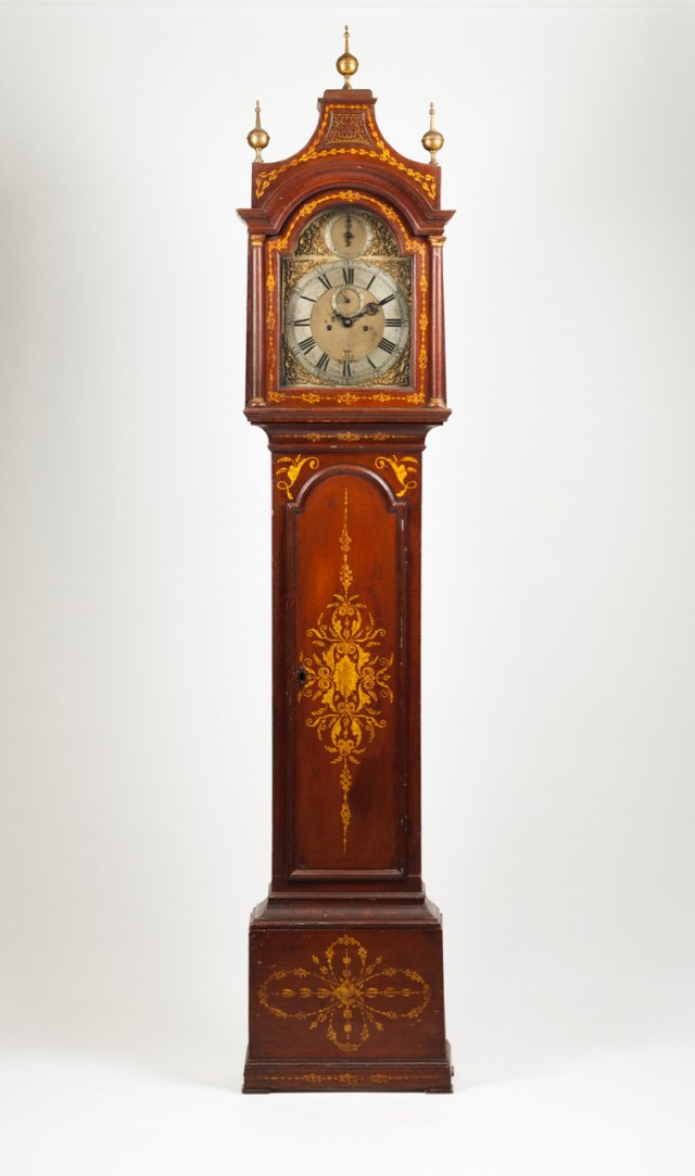 A long case clock