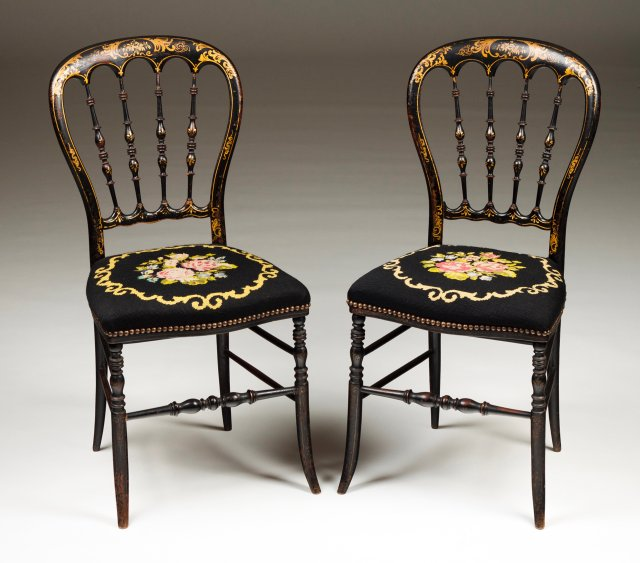 A pair of Napoleon III chairs
