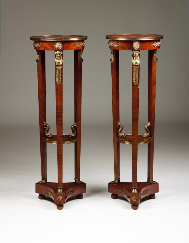 A pair of columns in the Empire style