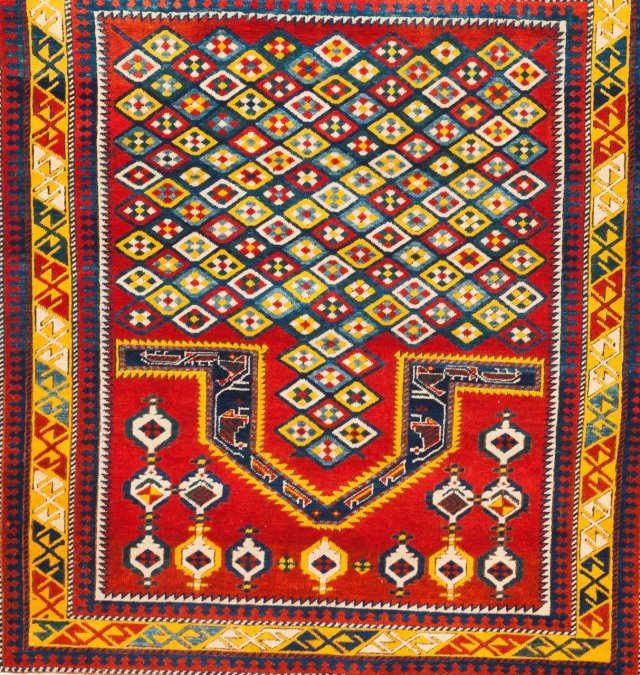 A Kazak design praying carpet