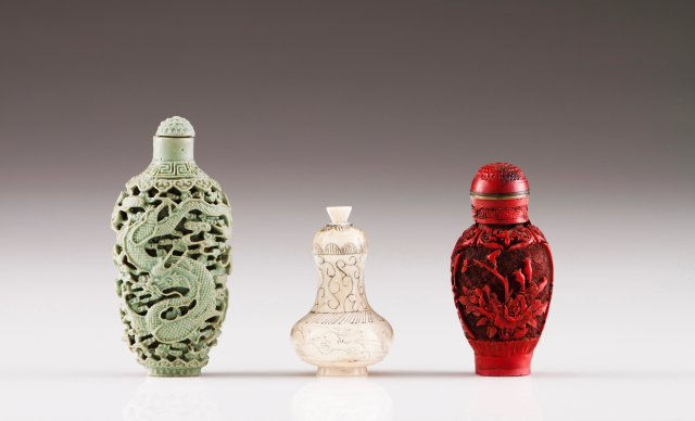 Three snuff-bottles