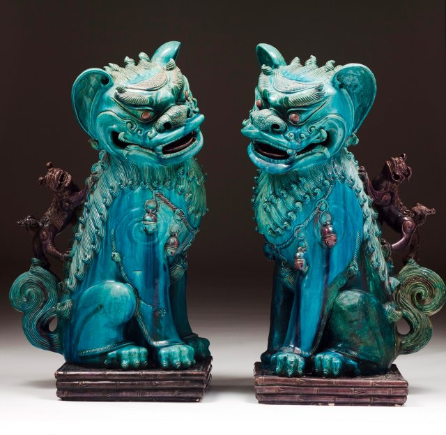 A pair of large Kangxi Guardian Lions