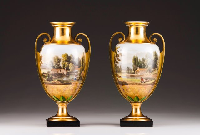 An Empire pair of urns