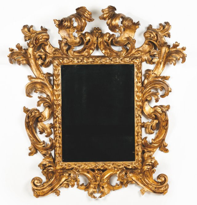 A wall mirror