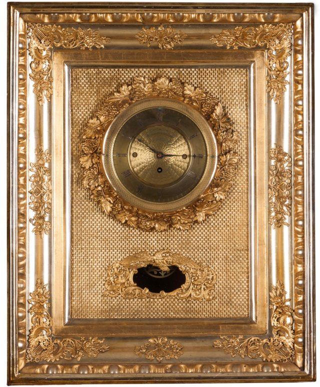A Biedermeir wall clock