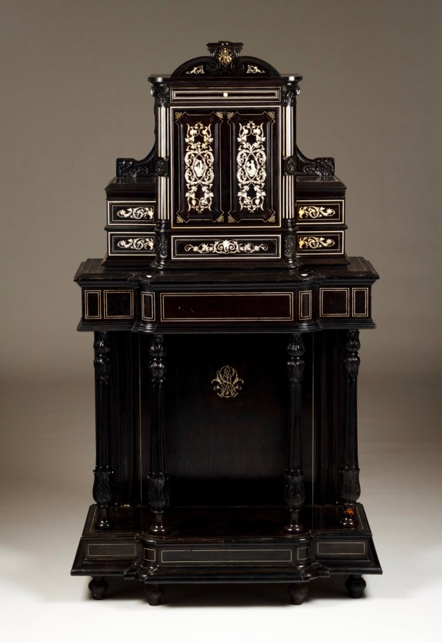 A cabinet with stand