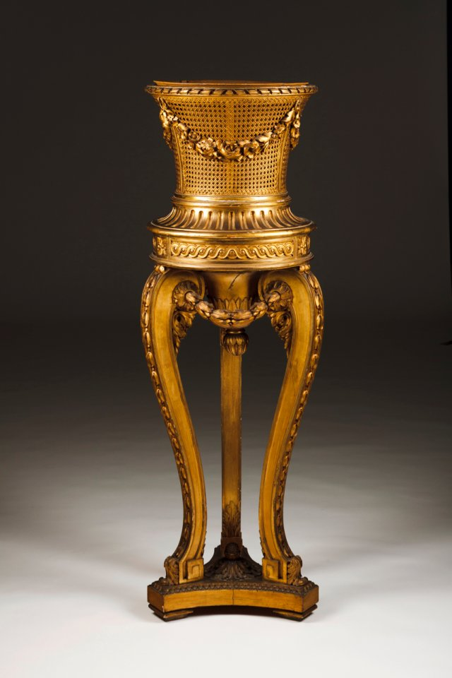 A Louis XVI style column/flower bowl