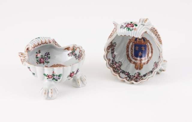 A pair of salt cellars