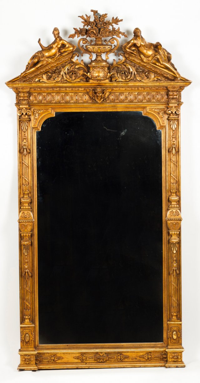 A large Romantic mirror