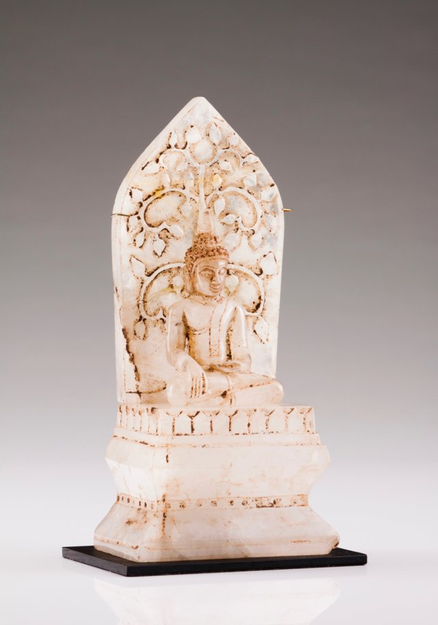 A seated Buddha