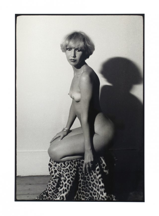 """Girl On A Leopard Skin Stool"""