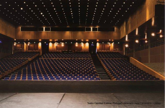 """""""Teatro Camões (Lisboa, Portugal): Escenario Vista I, Proscenio y Platea"""", 2012"""