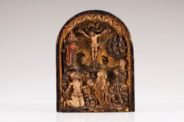 Crucified Christ, Saint Anthony and Saint Jerome