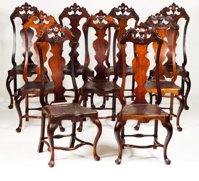 [Auction 70] Lot 48 – A set of nine D. José (1750-1777) chairs
