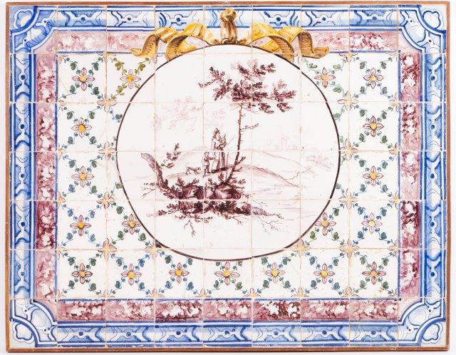 Painel de azulejos D. Maria