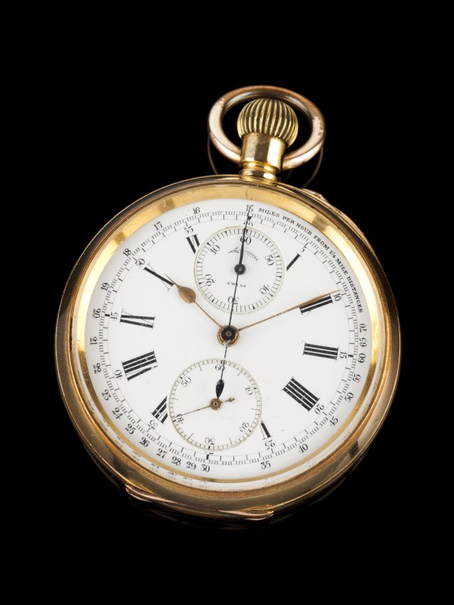 A Pocket watch with chronograph