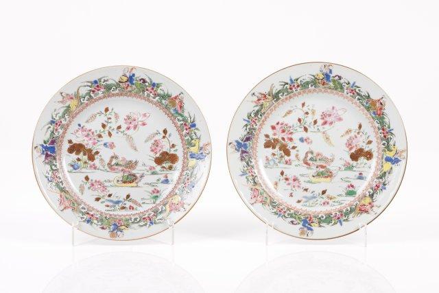 A rare pair of plates