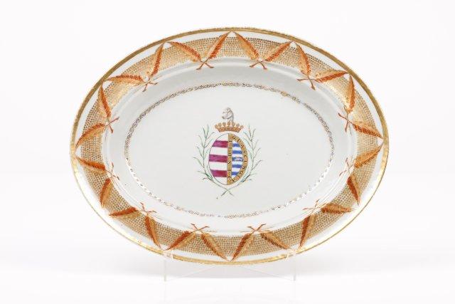 An oval dish