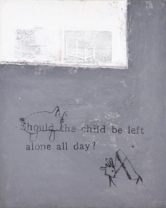 """Should the child be left alone all day?"""