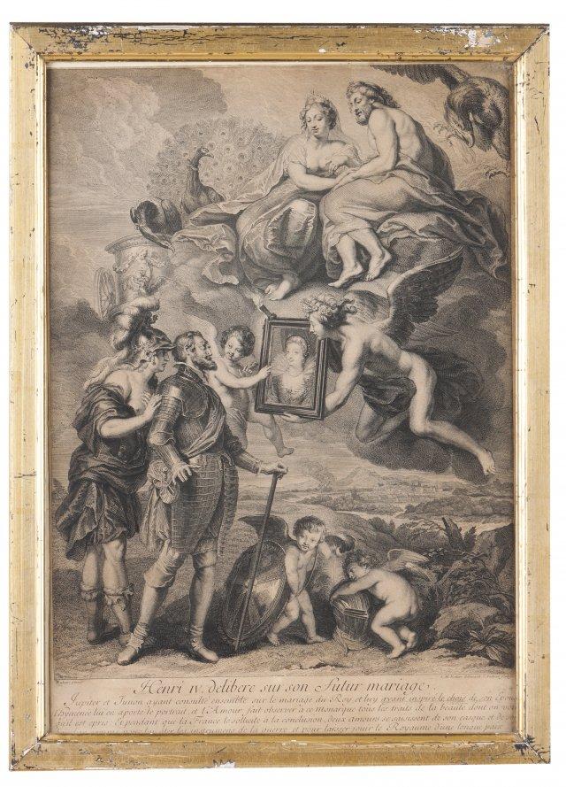 """""""Henri IV délibéré sur son futur mariage"""""""