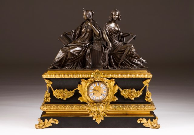 A Napoleon III table clock