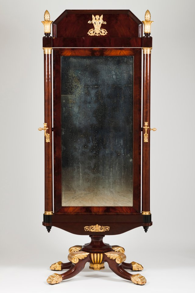 An Empire dressing mirror
