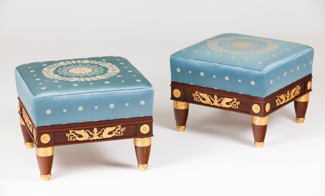 A pair of Empire style stools