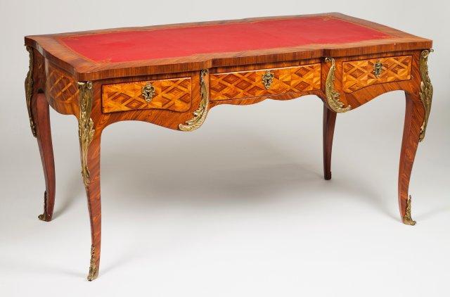 A Louis XV style bureau plat