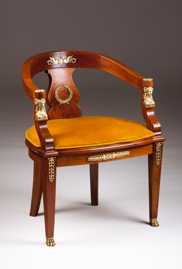 An Empire style fauteuil