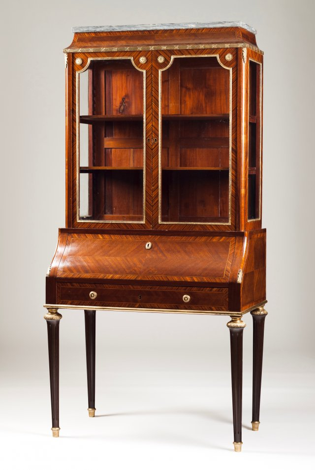 A Napoleon III style bureau with book cabinet