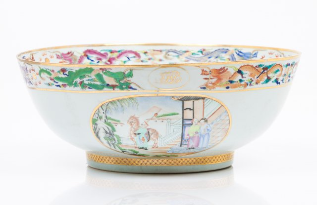 A large punch bowl