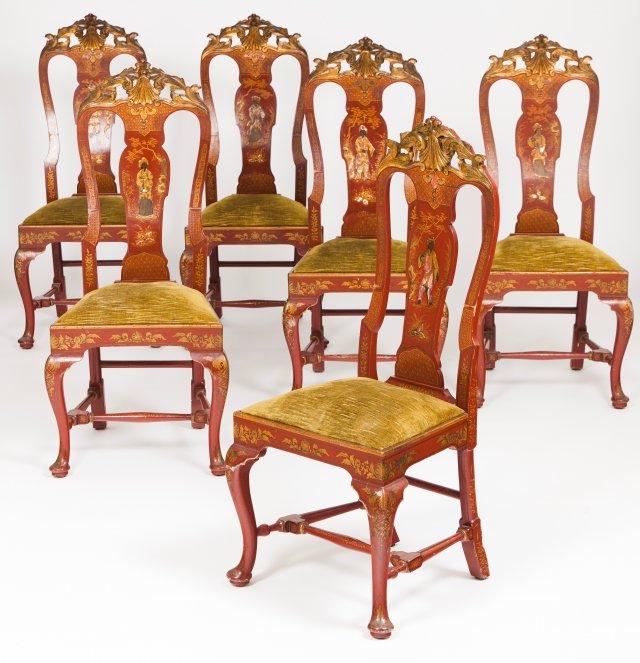 Six George III style chairs