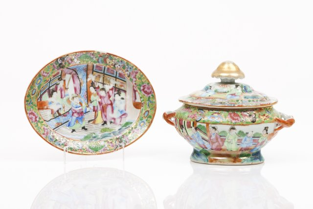 Small tureen and tray