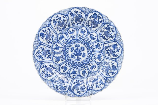 A large scalloped plate