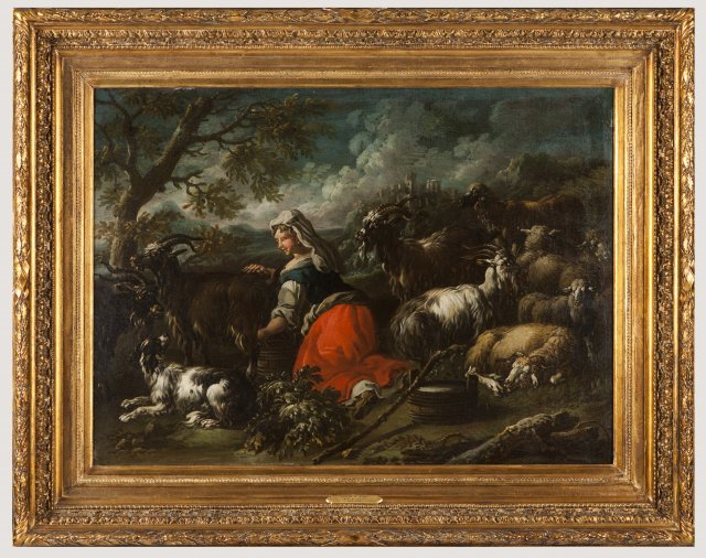Landscape with shepherd and Landscape with shepherdess