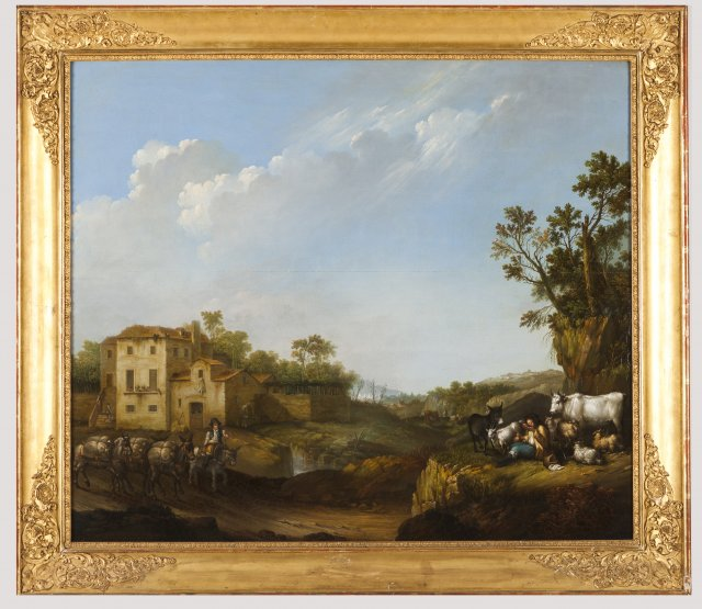 A landscape with country scenes