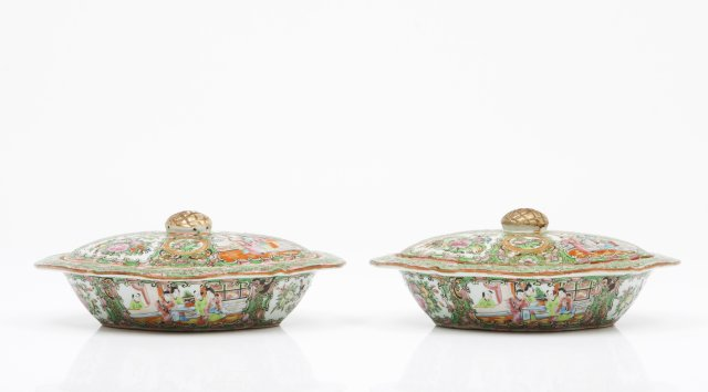 A Pair of Covered Dishes